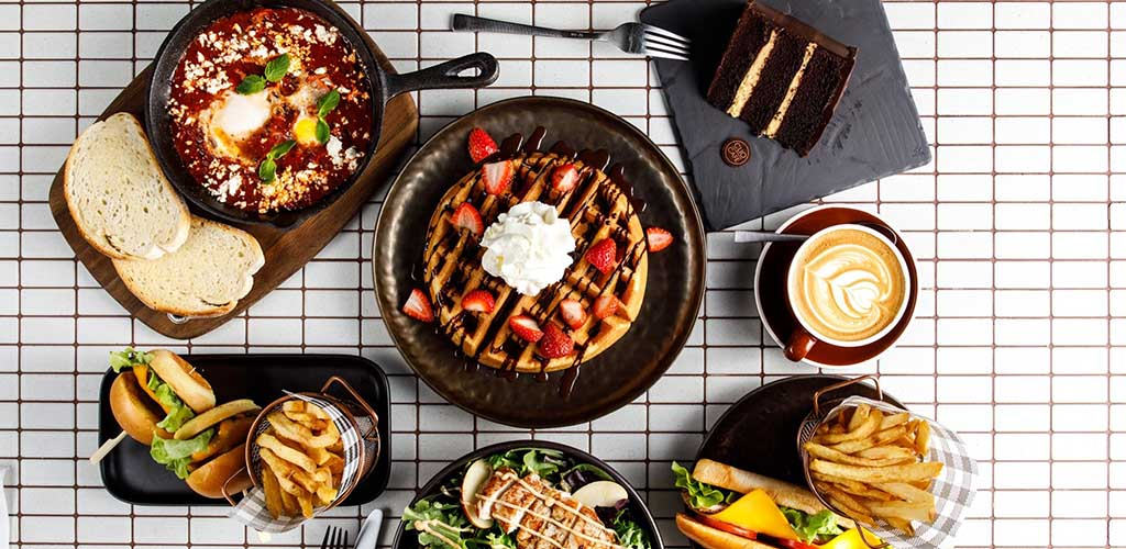 Various brunch dishes from Clio Cafe