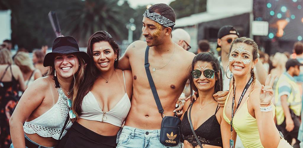 Sexy EDM lovers at Electric Gardens Festival