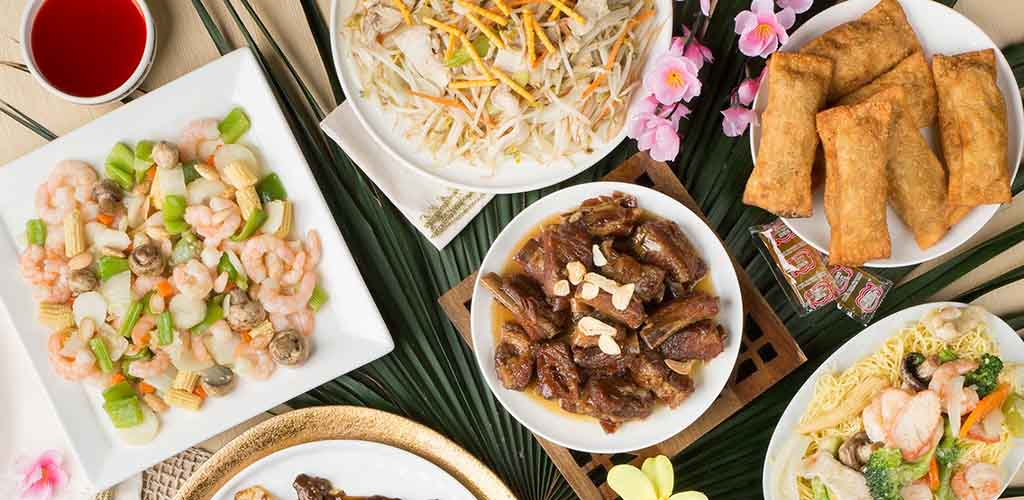 A variety of dishes from Mandarin Restaurant