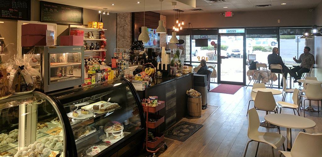 Inside the cozy Mojo Coffee Shop