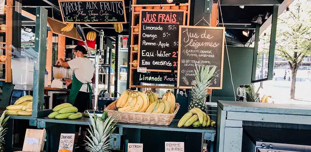 Fresh fruit from Jean Talon Market