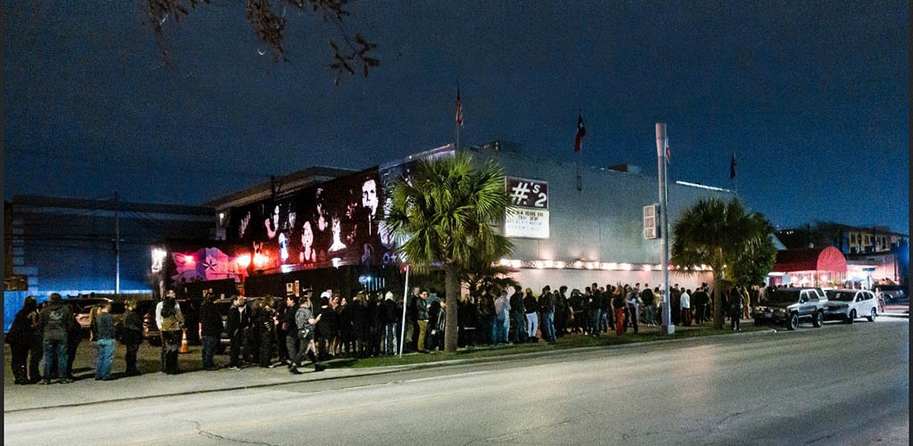 The long line outside Numbers Nightclub