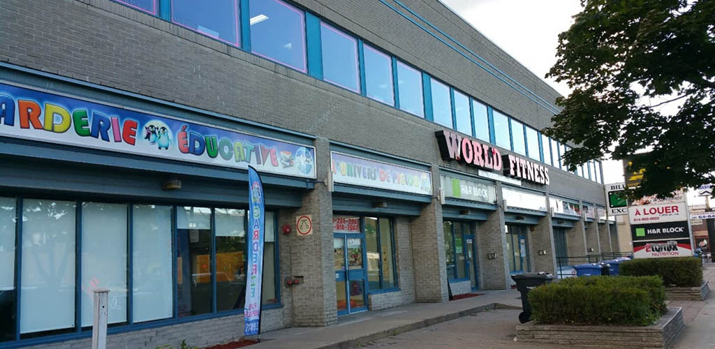 The exterior of World Fitness