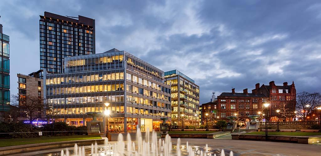 Millenium Square at dusk