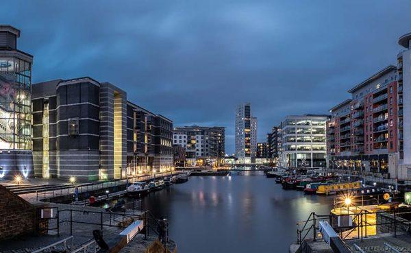 Leeds Docks at dusk