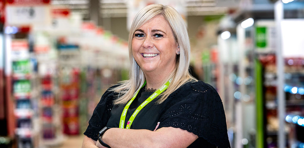 The friendly manager at Asda