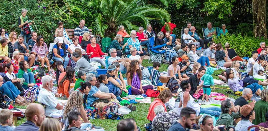 The audience for a live performance at Cairns Fest