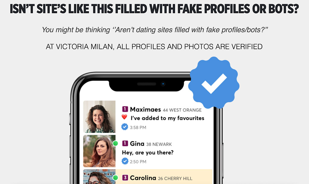 Claim that all photos are verified