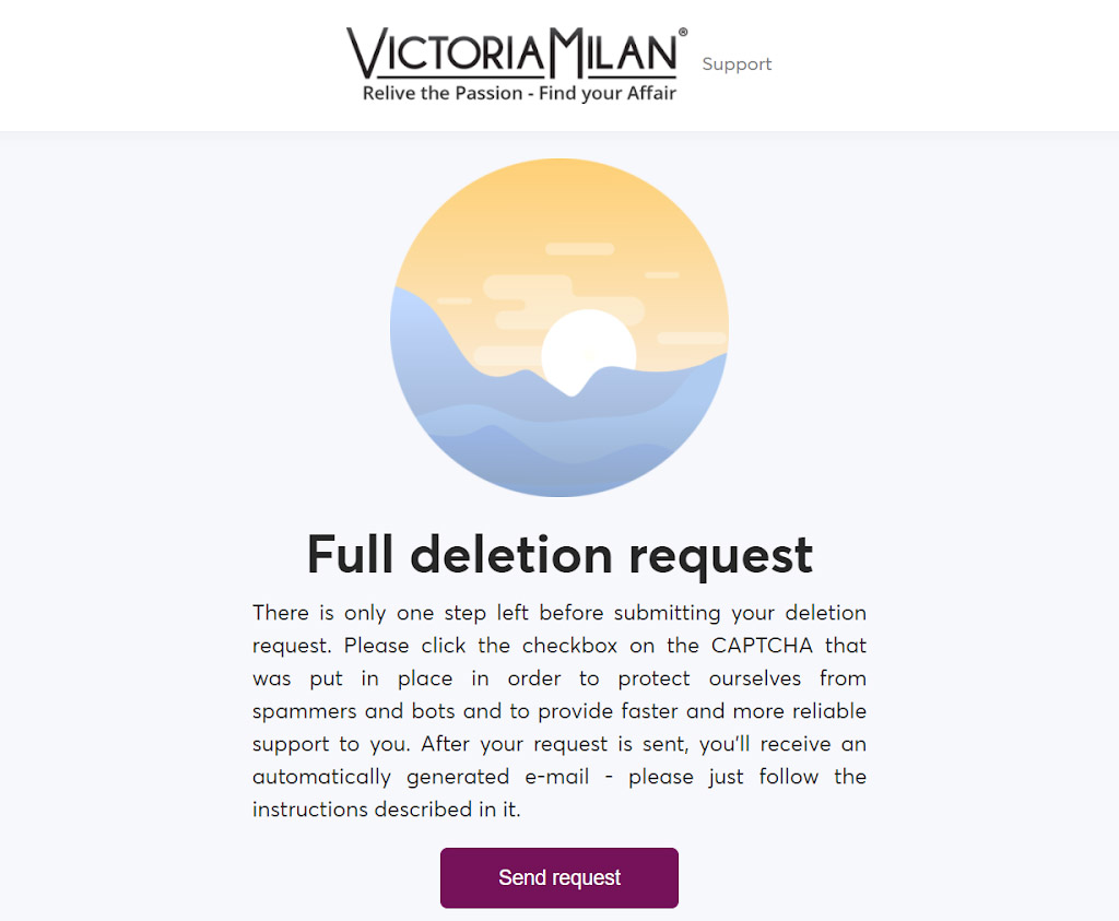 Deletion request form