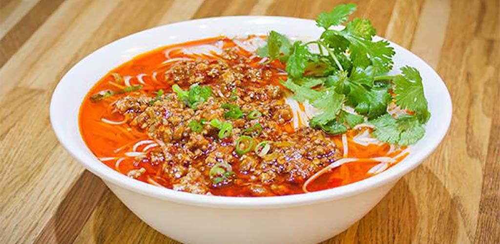 Spicy dandan noodles from Dumpling Monkey
