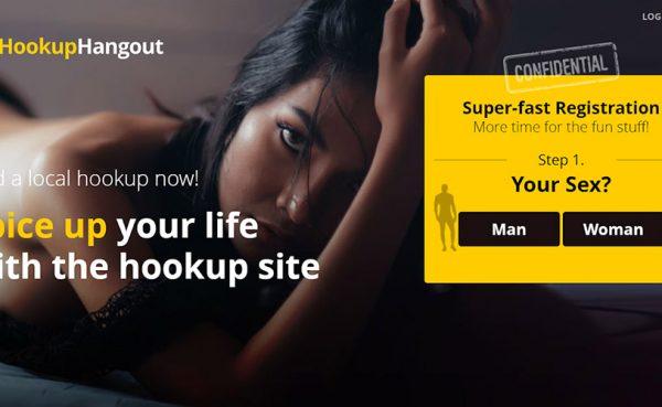 Hookup Hangout landing page