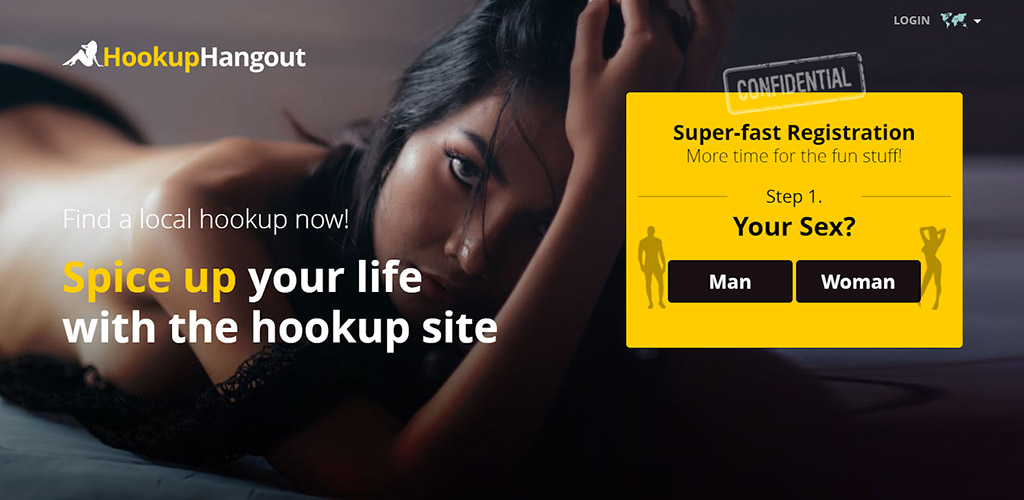 Hookup Hangout review landing page