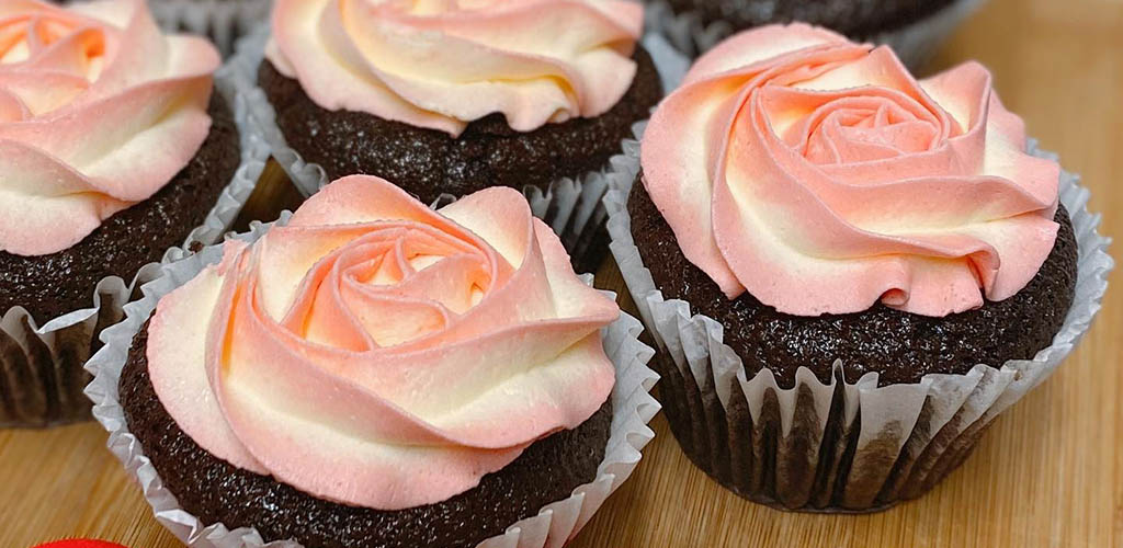Rose cupcakes from Juliette's