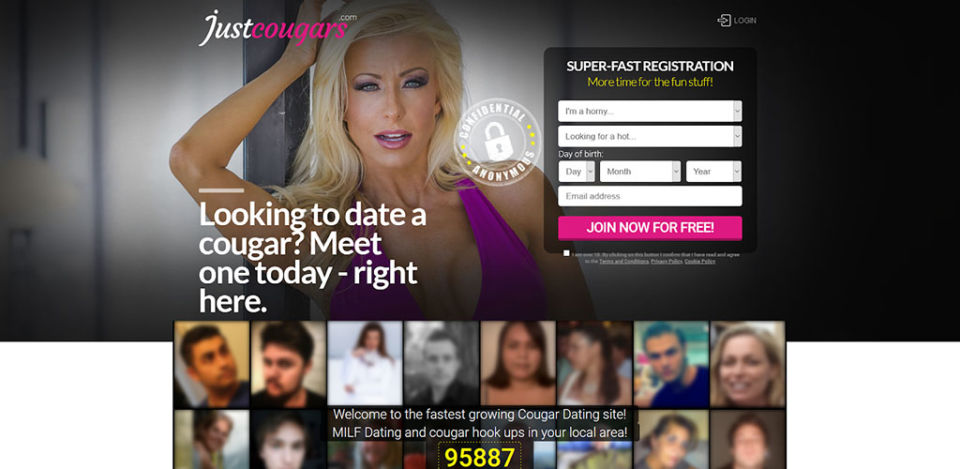 Just Cougars landing page