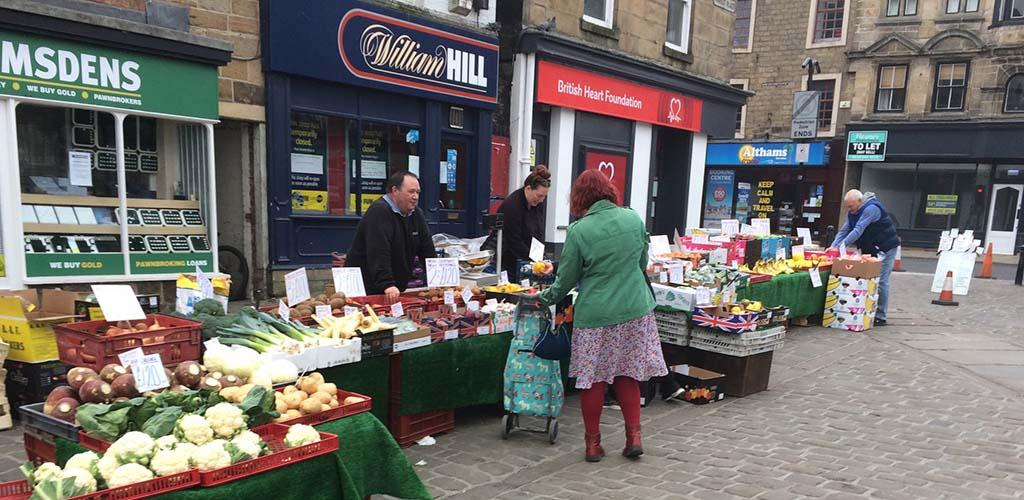 Shopping at Leeds Kirkgate Market