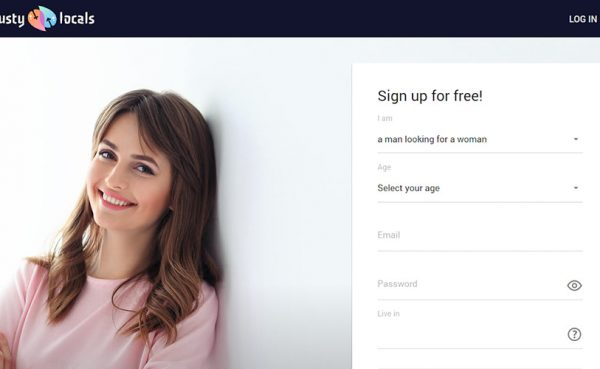 Lusty Locals landing page