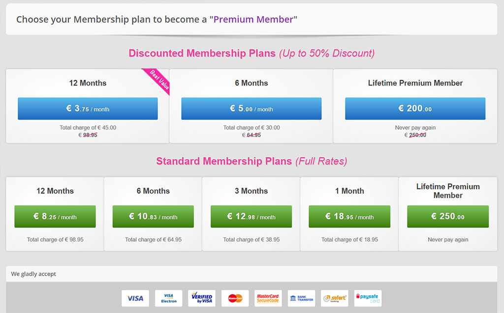 Membership plans and discounts