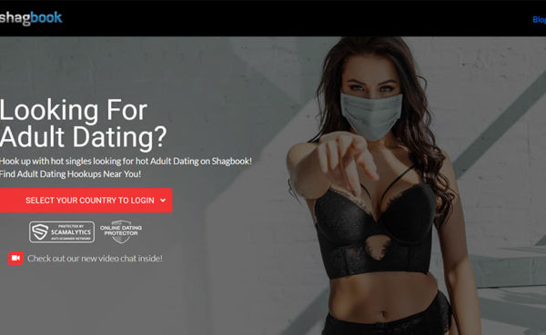 Shagbook landing page