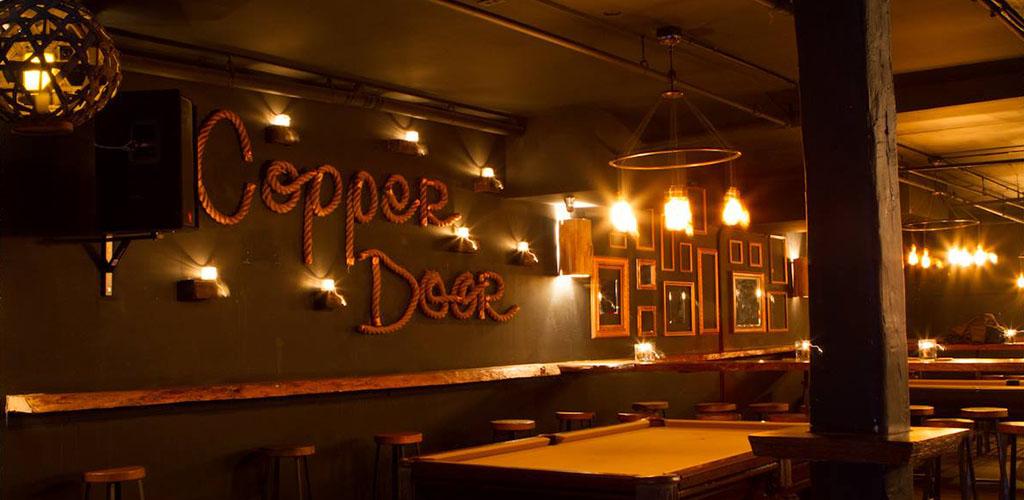 Copper Door before opening