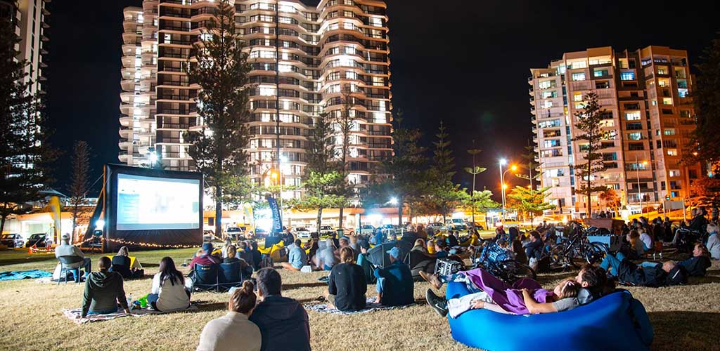 An outdoor screening at the Gold Coast Film Festival