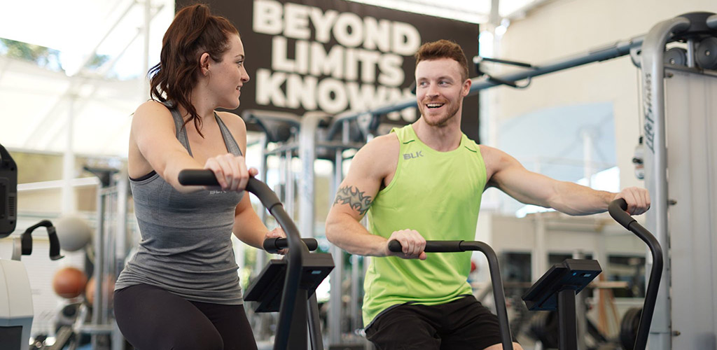 Cute singles working out and flirting at the Gold Coast Performance Centre