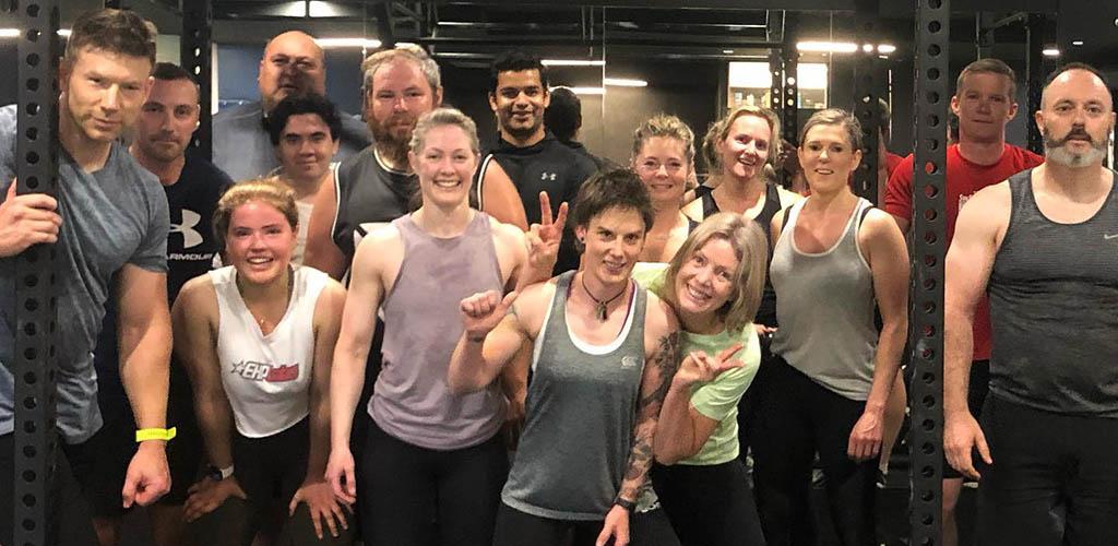 A workout class at GTT Performance Centre