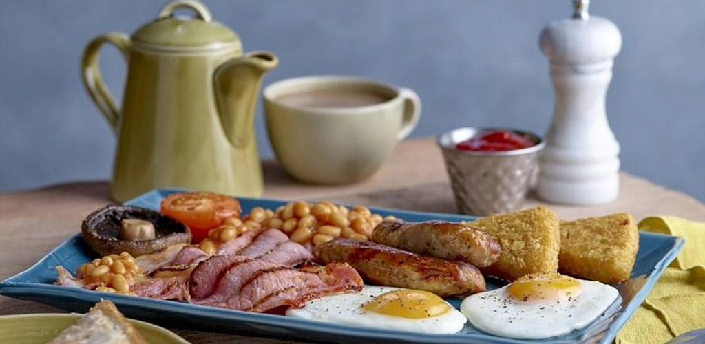 A full English breakfast from Havester Restaurant