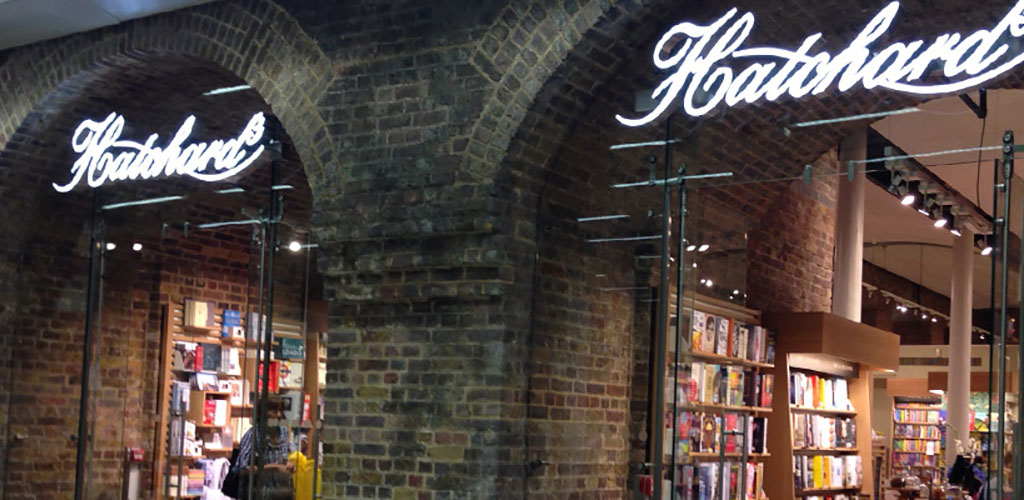 The brick exterior of Hatchards