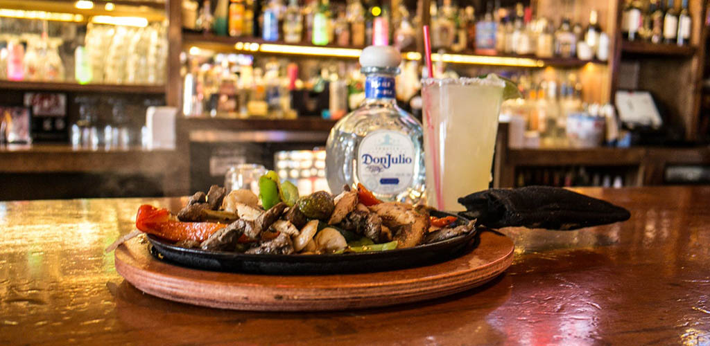 Fajitas and tequila from Lake Alice Trading Co. Great for singles looking for hookups in the area.