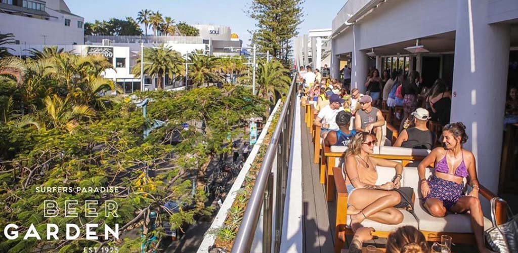 The spacious patio of Surfers' Paradise Beer Garden