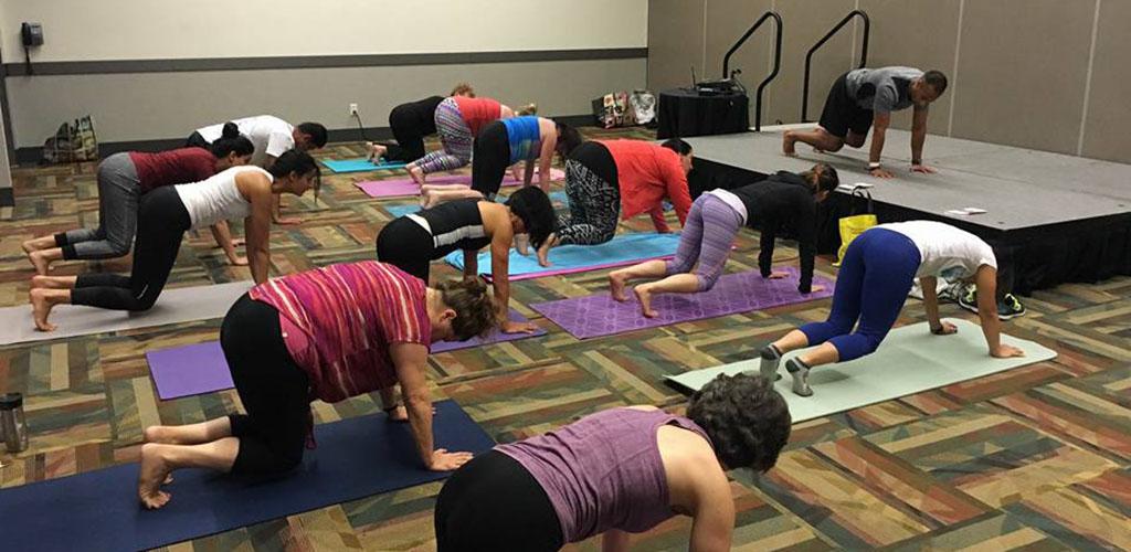 A class at Yoga Dojo Studio