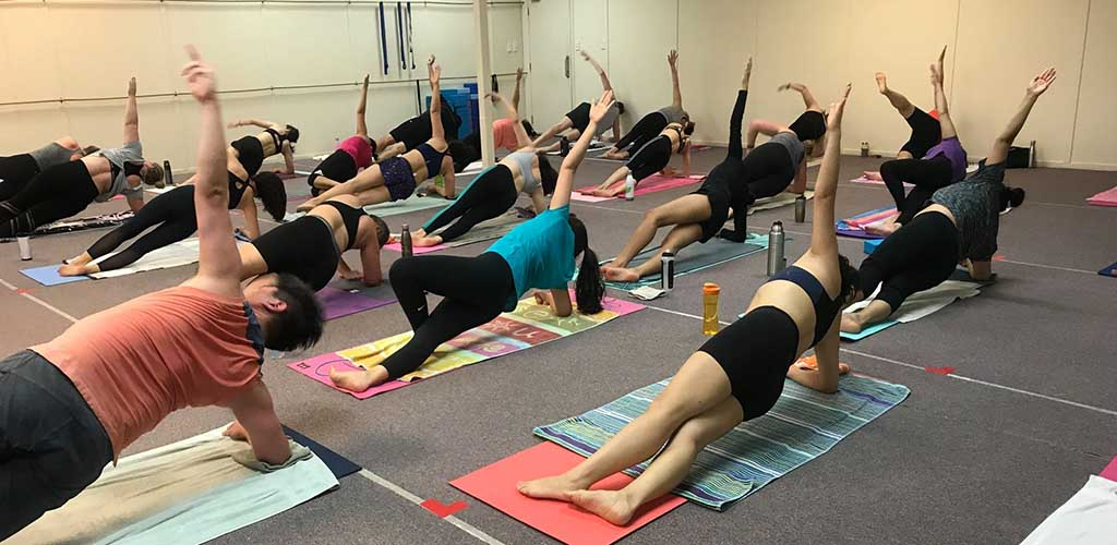 A class at Achel Bikram Yoga