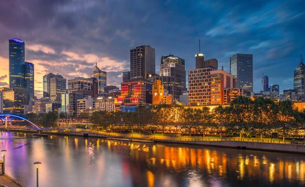Skyline of Melbourne