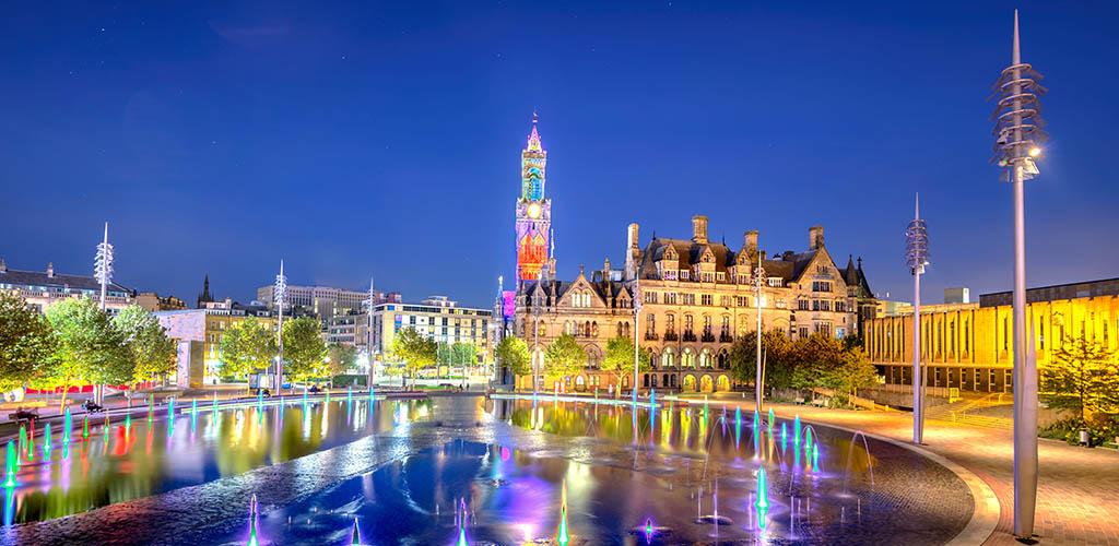 Panoramic View City Park Bradford UK