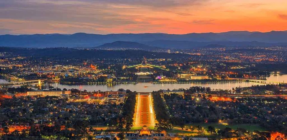 Canberra at sunset