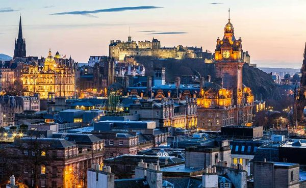 Edinburgh Evening Skyline