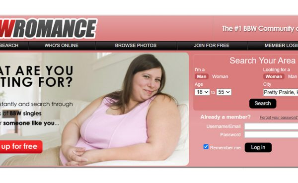 BBW Romance landing page
