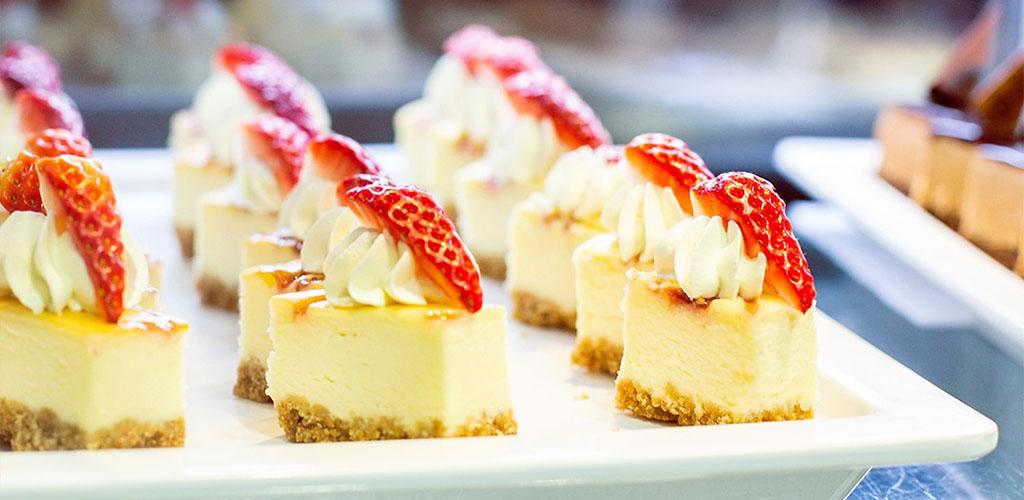 Strawberry desserts from Cosmo Restaurants
