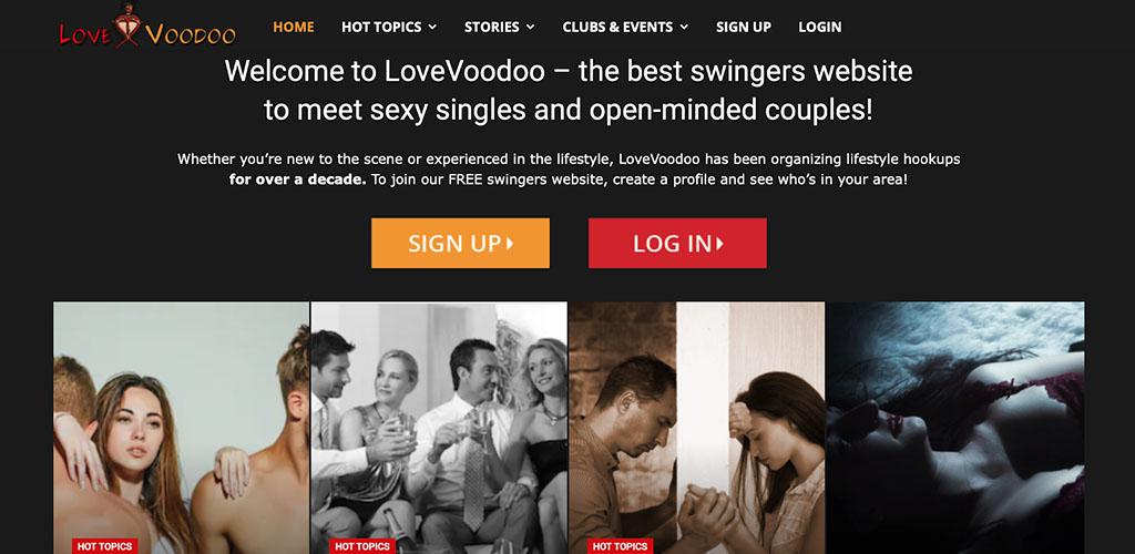 Love Voodoo landing page