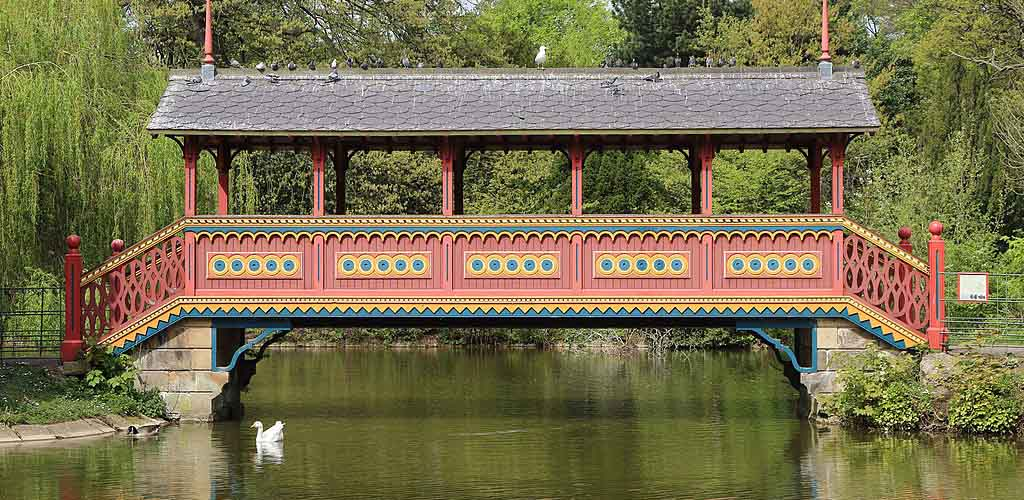 The Swiss bridge at Birkenhead Park