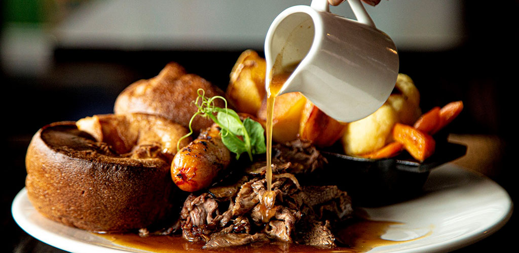 Steak and potatoes from Jack Hackett's Irish Pub