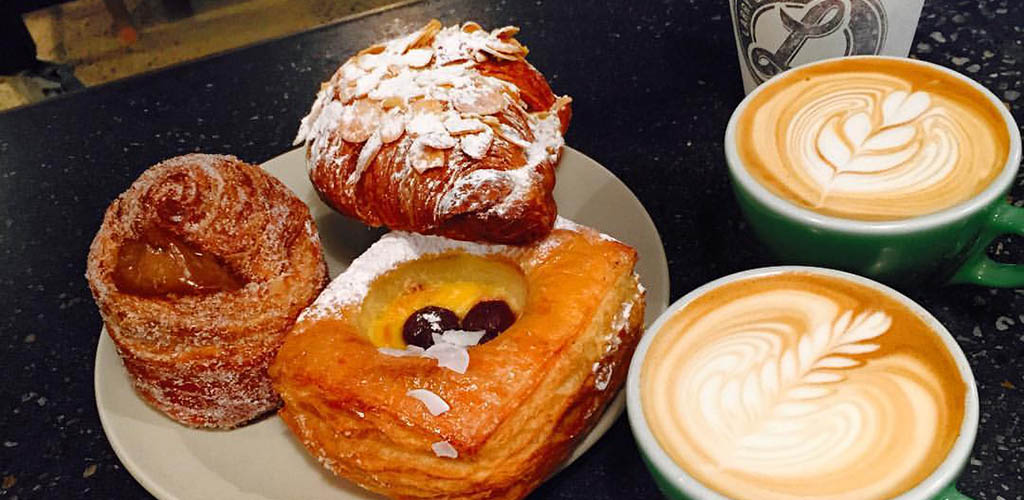 Pastries and lattes from Larry and Ladd