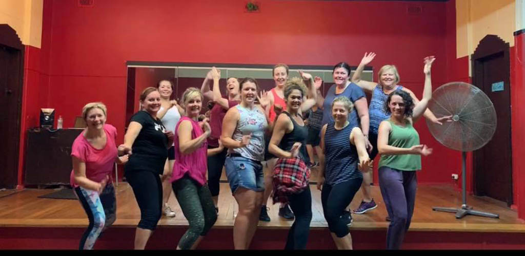 A dance class at Pivot Studio