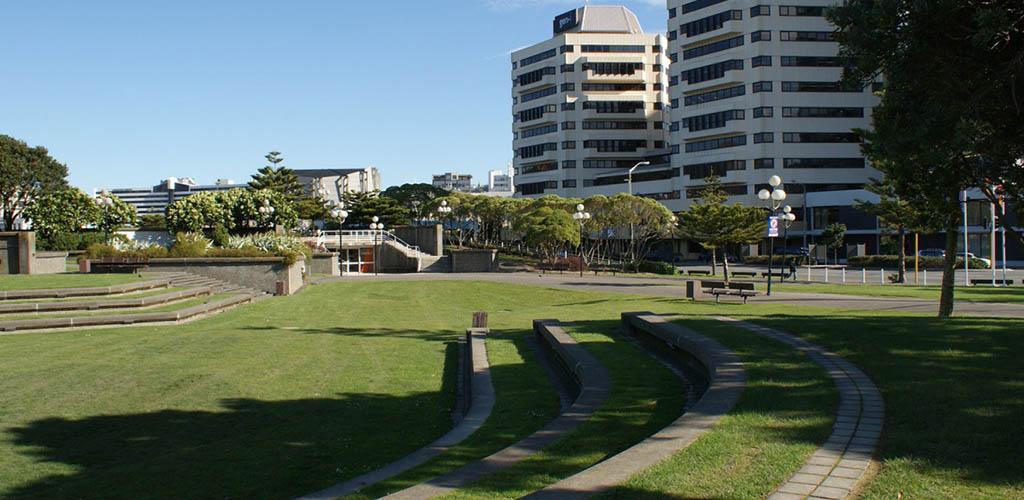 Frank Kitts Park on a sunny day