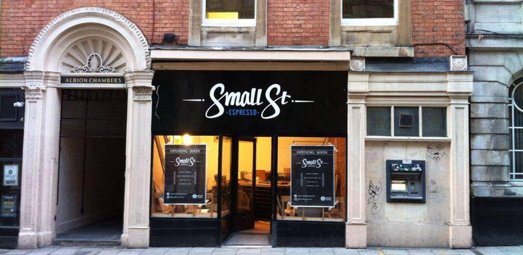 The little storefront of Small Street Espresso