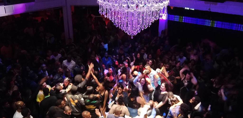 The crowded dance floor of Sugar Daddy