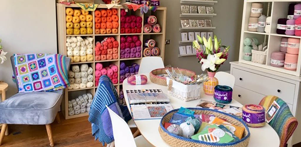 The craft room at The Little Craft House Altaire