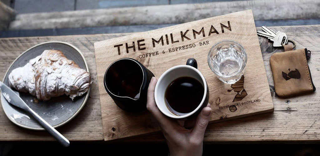 An espresso cup from The Milkman