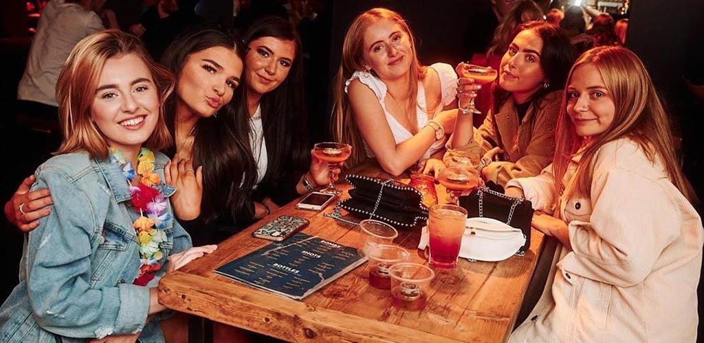 Sheffield girls having drinks at Tiger Works