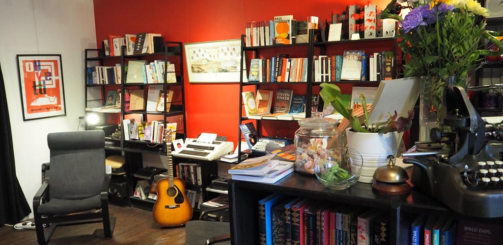 The cozy reading area of Typewronger